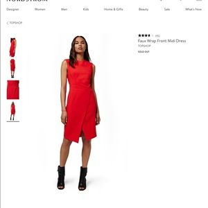 ISO- TopShop Red Sheath Dress